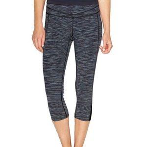 Lucy Hatha Space Dye Gray Capri Cropped Leggings